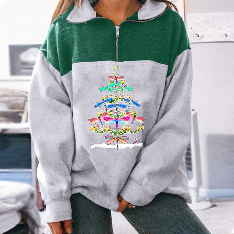 Women Alaska Letter Print Graphic Long Sleeve Sweatshirts Hip Hop High Zipper Top Green