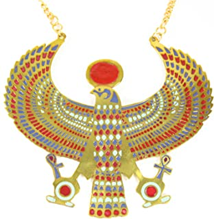 Winged Horus Necklace Costume Accessory