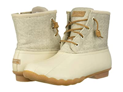 Sperry Saltwater Emboss Wool (Off-White) Women