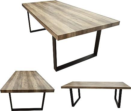 MOG Esszimmertisch 180x100 Cm Kufentisch Holztisch Kufengestell Esstisch Tisch Mit Tischplatte Und Kufen