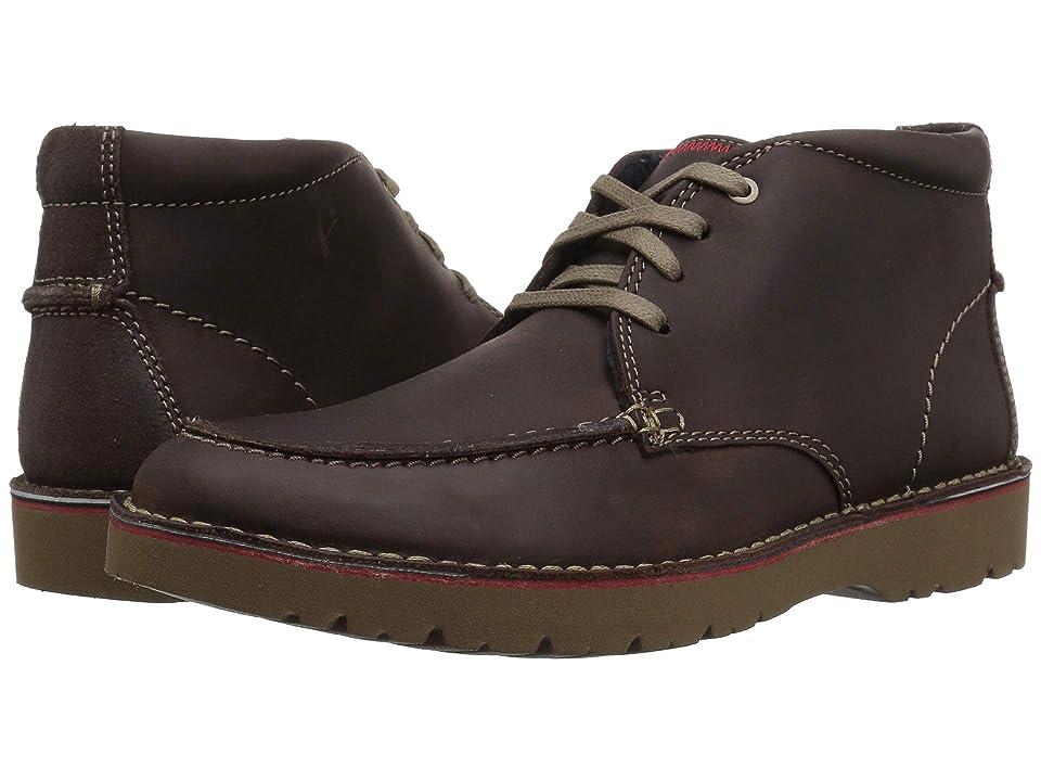 Clarks Vargo Rise (Dark Brown Leather) Men