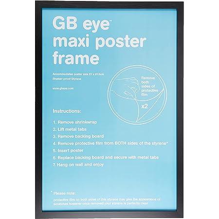GB eye, Maxi Poster, 61x91.5cm Cadre, Noir
