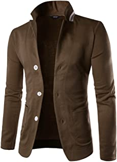 Mens Casual Slim Fit Blazer 3 Button Suit Sport Coat Lightweight Jacket
