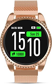 Smart Watch for Women with Heart Rate Sleep Monitor Blood Pressure Monitor Activity Smart Fitness Android Watches for Womens Reloj Inteligente para Mujer Calorie Counter Extra Silicone Band