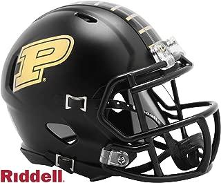 Purdue Boilermakers Black Matte Finish Riddell Speed Mini Football Helmet - 2019 New in Riddell Box