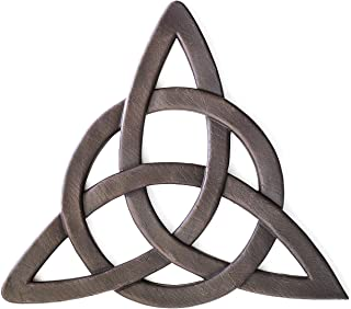 Super Z Outlet Resin Celtic Trinity Knot Wall Art for Home Decoration, Religious Communion Baptism Gifts, Churches