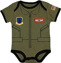 Trendy Apparel Shop Flight Body Suit Future Pilot USA Flag Infant Jumper Pajamas