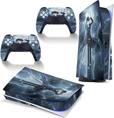 Sword Art Online PS5 CD Version Disk Edition Console Skin and Controllers Vinyl Sticker Playstation 5 Skin Wrap Decal Sticker