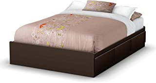 South Shore Storage Collection 54-Inch Full Mates Bed, Chocolate