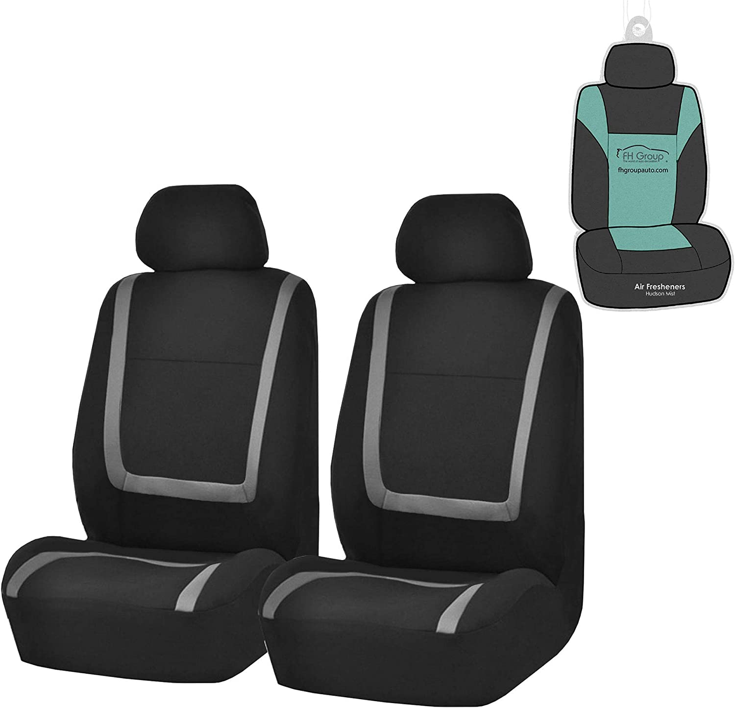 FH Group FB32102 Beauty products Unique Flat Cloth Black- Covers Gray Albuquerque Mall Seat Fit