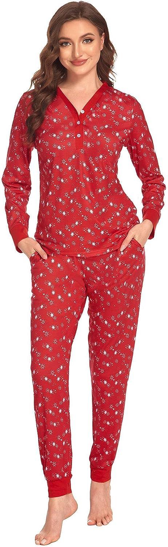 Ekouaer Womens Award Pajamas Set Long Nightwear with Sleepwear Max 60% OFF Sleeve