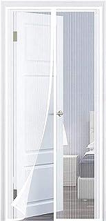 UnfadeMemory Mosquitera Puerta,Cortina Mosquitera para Casa,Casa M/óvil o Caravana,Cortina para Insectos,Resistente al Agua 56x185cm, Beige
