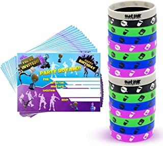 Party Invitations and Video Game Party Bracelets | Video Game Party Supplies | Video Game Party Favors | Birthday invitations | Gaming Party Supplies for Boys | Party Wristbands | Bracelets for Boys