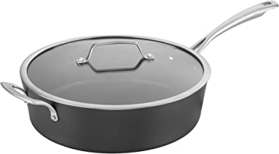 Cuisinart Conical Hard Anodized Saucepan with cover, Medium, Black