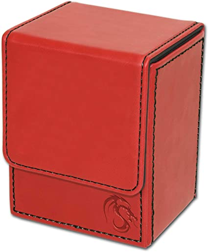 Holds 100 Cards RED BCW DECK CASE LARGE PLASTIC