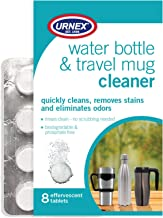 Urnex Water Bottle Cleaner Tablets - Travel Mug Insulated Stainless Steel Plastic Aluminum Water Bottles Narrow Neck Bottle Cleaner Biodegradable and Phosphate Free