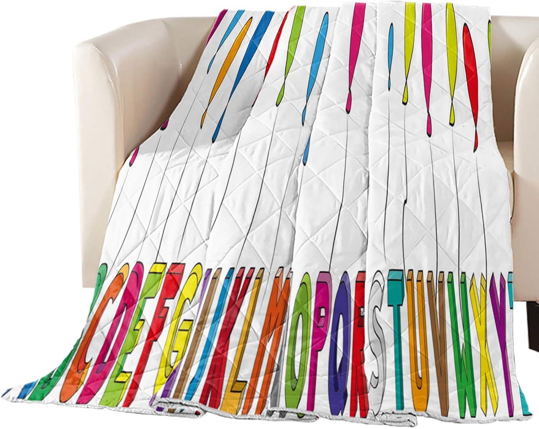 Phoenix Mall Arts Language Cool Summer Bedspread 1 year warranty Quilt California King Alphab