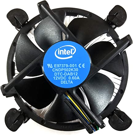 Intel Core i3 / i5 / i7 Socket 1156/1155 / 1151/1150 4-Pin Connector CPU Cooler with Aluminum Heatsink & 3.5-Inch Fan with Pre-Applied TRONSTORE Thermal Paste for Desktop PC Computer (TS2)