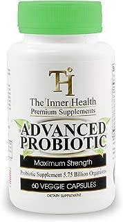 The Inner Health Premium Probiotics For Women & Men to Support Weight Loss Healthy Gut & Immune System; 5.75 Billion Organisms; Bacillus Subtilis Lactobacillus Rhamnosus Acidophilus Probiotic L. Casei