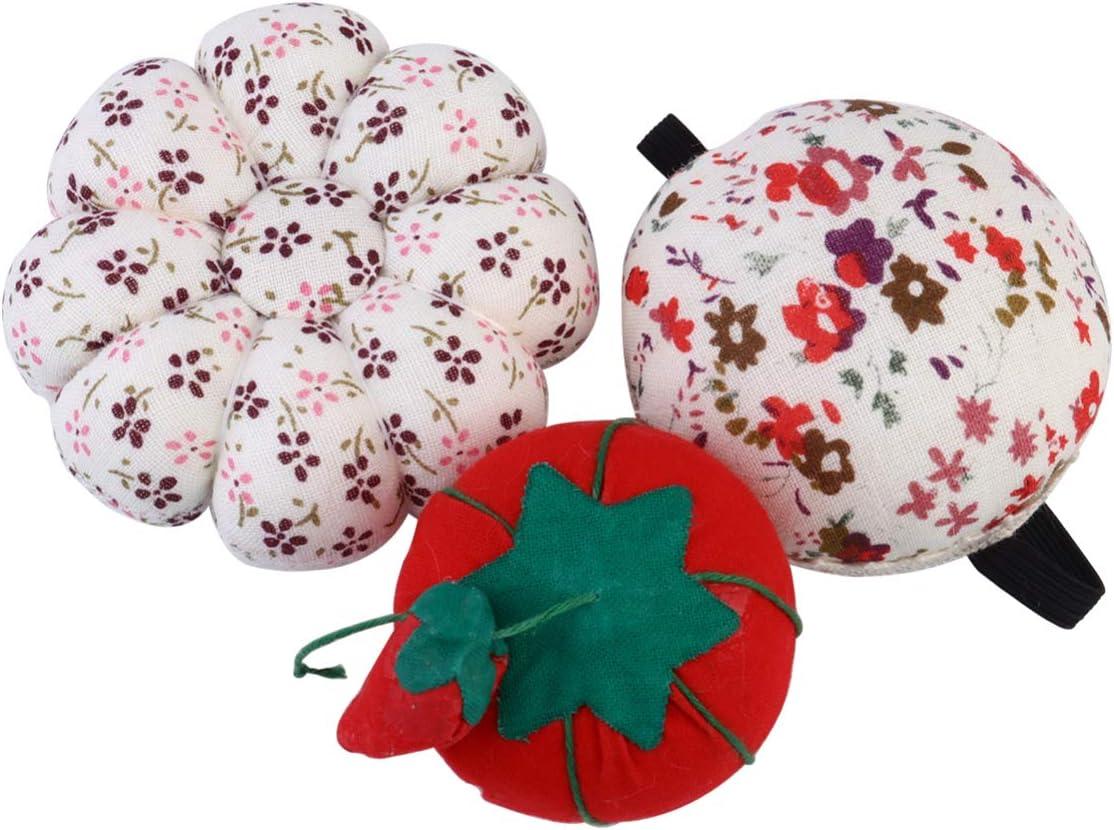 Minneapolis Mall EXCEART 3pcs Store Lovely Pin Cushion Pumpki Wrist Cushions Tomato
