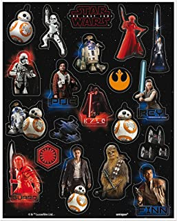 Unique 59418 Star Wars Sticker Sheets 4 Count