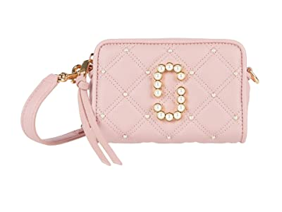 Marc Jacobs The Softshot 17 Quilted with Pearls Crossbody (Pink Rose) Cross Body Handbags
