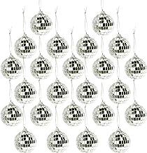 24 Pcs Christmas Ball Ornament, Bright Reflective Mirror Disco Balls, Shatterproof Christmas Tree Hanging Baubles, Reusabl...
