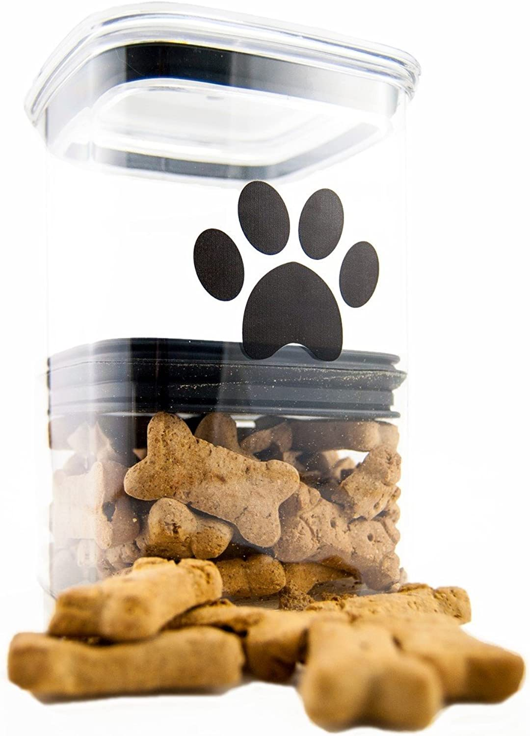 Airscape Pet Food and Treat Storage Container  Patented Airtight Lid Preserves Food Freshness  Clear Plastic  64 fl. oz