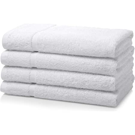 Rapid Dry Ultra Soft 500 GSM Highly Absorbent Face Towel BuyerPX Egyptian Cotton Towel Bale Set Hand Towel Bath Towel Modern Luxury Design White, 2 Hand 2 Bath