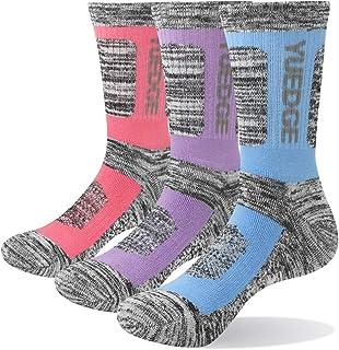 YUEDGE レディースソックス 多機能 アウトドアスポーツ アウトドア ウェア トレッキング 登山用 遠足 徒歩 抗菌防臭 通気吸湿 女性 靴下 綿