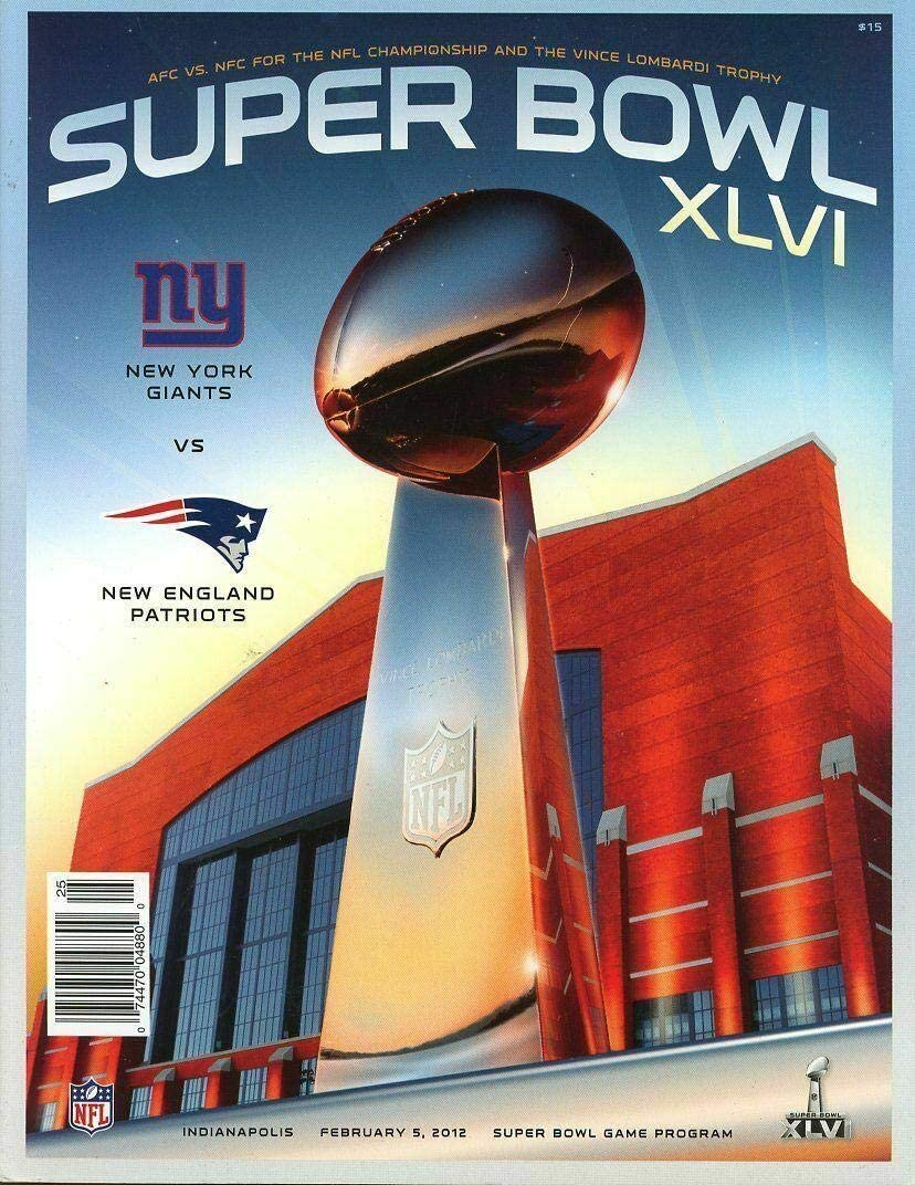 NFL 2012 Super Limited time cheap sale Bowl XLVI Souvenir Giant Game Popular brand Collectible Program