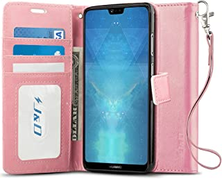 J&D Case Compatible for Huawei P20 Pro Case, [Wallet Stand] [Slim Fit] Heavy Duty Shock Resistant Flip Cover Wallet Case for Huawei P20 Pro Wallet Case - [NOT for Huawei P20 / P20 Lite] - Pink