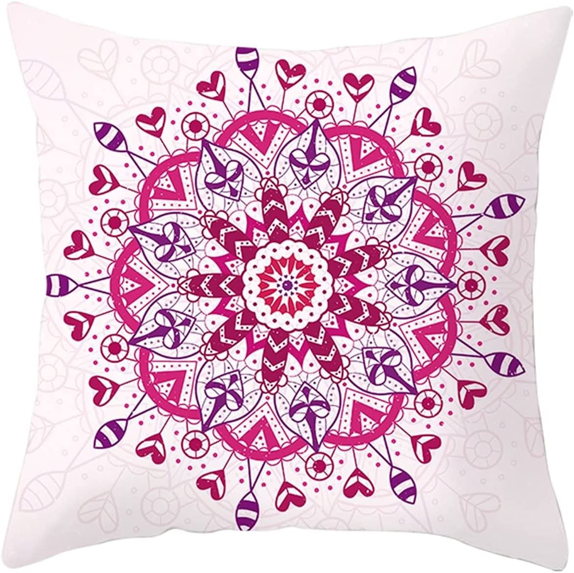 Daesar Decorative Free shipping on posting reviews Throw Pillow Cases Pink Red 70% OFF Outlet Cushion Case Sofa