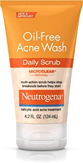 Neutrogena Oil Free Acne Face Scrub with Salicylic Acid Acne Treatment Medicine, Daily Face Wash to Prevent Breakouts, Oil Free Exfoliating Acne Cleanser with Salicylic Acid, 4.2 fl. oz