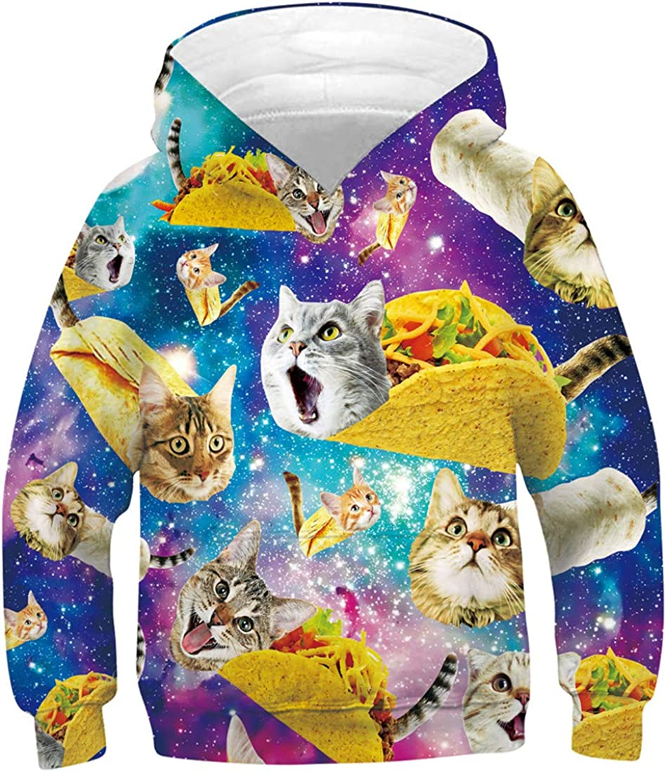 Ahegao Boys Girls Hoodies for Kids 3D Prints Casual Pullover Sweatshirts with Pocket for 6-16 Years