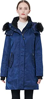 Women's Down Jacket with Removable Hood Winter Down Coat