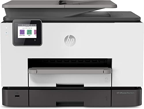 HP OfficeJet Pro 9025 All-in-One Wireless Printer, Single-pass (Automatic) Document Feeder & Two Paper Trays, Smart H...