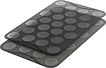 Mastrad Small Macaron Baking Sheet, 25 Ridge Mold Tray Mat, Flexible, Reusable, Non-Stick, Silicone, Heat-Resistant, Multi...