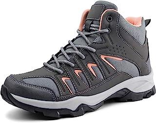 أحذية JABASIC النسائية ذات منتصف المشي لمسافات طويلة خفيفة الوزن مقاومة للماء في الهواء الطلق أحذية الرحلات