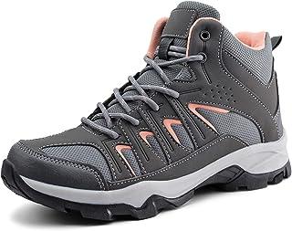 JABASIC Womens Mid Hiking Boots Lightweight Waterproof Outdoor Trekking Shoes