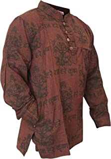 Shopoholic Fashion Mens Light Weight Festive Hippie Shirt