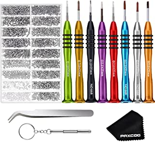 Paxcoo Eyeglass Repair Kit with 8 Pcs Magnetic Eyeglass Screwdrivers and Glasses Screws for Glasses, Eye Glass, Sunglass R...