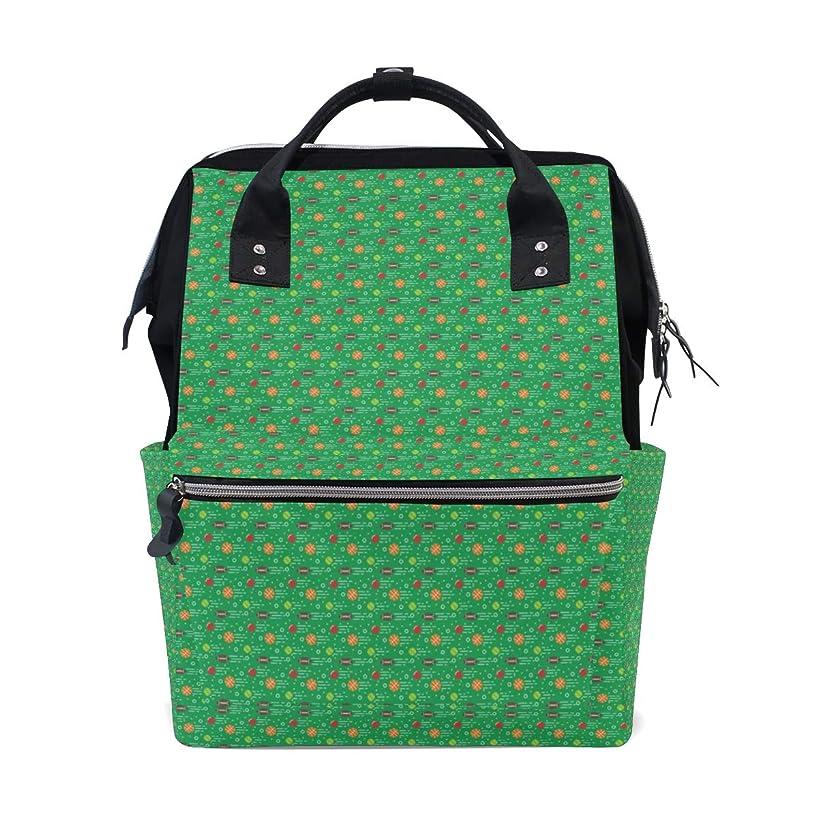 Green Football Baseball Basketball School Backpack Large Capacity Mummy Bags Laptop Handbag Casual Travel Rucksack Satchel For Women Men Adult Teen Children