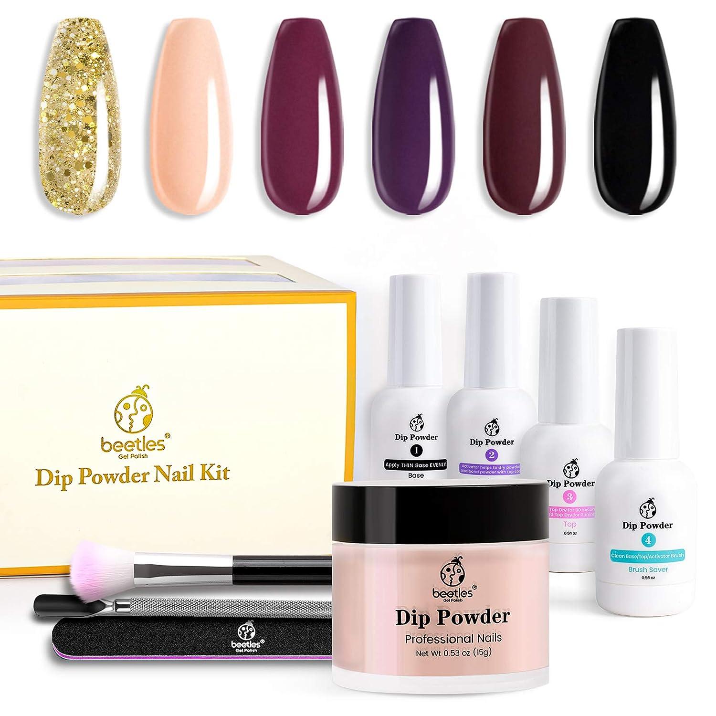 Beetles Dip Powder Starter Kit Outlet SALE 6 Colors Ranking TOP16 Pink Glitter Gold Purple