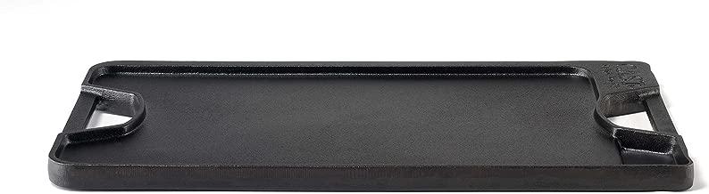 Calphalon 1873980 Pre-Seasoned Cast Iron Grill/Griddle Combo, Black