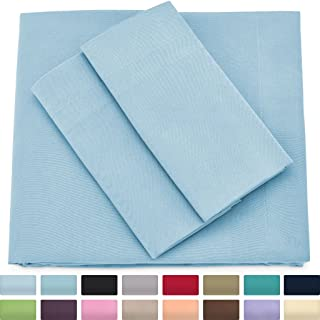Cosy House Collection Premium Bamboo Sheets - Deep Pocket Bed Sheet Set - Ultra Soft & Cool Breathable Bedding - Hypoallergenic Blend from Natural Bamboo Fiber - 4 Piece - King, Baby Blue