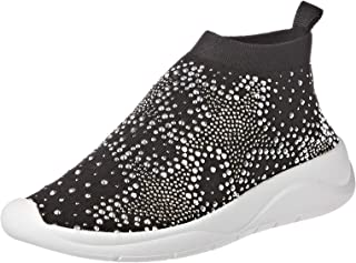 Dune London Emerald Star Sneaker For Women, Black, Size 41 EU