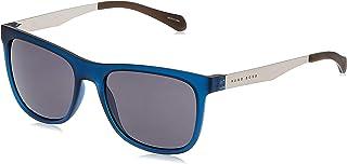 نظارات شمسية للجنسين من هوغو بوس، 0868/S بميزة الحماية من الاشعة فوق البنفسجية ازرق داكن، Mtrut 55