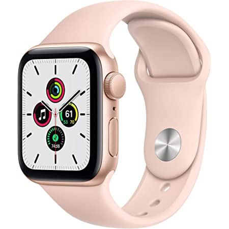 New Apple Watch SE (GPS, 40mm) - Gold Aluminum Case with Pink Sand Sport Band