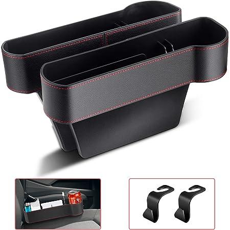 Autositz Aufbewahrungsbox Universal Seitentaschen Organizer Pu Leder Auto Ablagefach Für Zusätzliche Lagerung Braun Auto